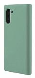 Eiroo Lansman Samsung Galaxy Note 10 Koyu Yeşil Silikon Kılıf