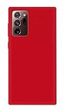 Eiroo Lansman Samsung Galaxy Note 20 Kırmızı Silikon Kılıf