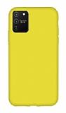 Eiroo Lansman Samsung Galaxy S10 Lite Sarı Silikon Kılıf