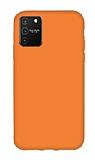 Eiroo Lansman Samsung Galaxy S10 Lite Turuncu Silikon Kılıf