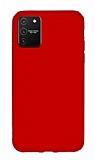 Eiroo Lansman Samsung Galaxy S10 Lite Kırmızı Silikon Kılıf