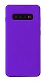 Eiroo Lansman Samsung Galaxy S10 Plus Mor Silikon Kılıf