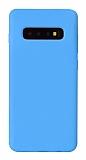 Eiroo Lansman Samsung Galaxy S10 Plus Mavi Silikon Kılıf