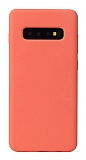 Eiroo Lansman Samsung Galaxy S10 Turuncu Silikon Kılıf
