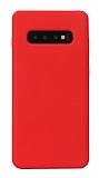 Eiroo Lansman Samsung Galaxy S10 Kırmızı Silikon Kılıf