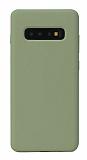 Eiroo Lansman Samsung Galaxy S10 Koyu Yeşil Silikon Kılıf