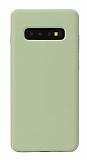 Eiroo Lansman Samsung Galaxy S10 Yeşil Silikon Kılıf