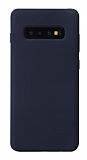 Eiroo Lansman Samsung Galaxy S10 Lacivert Silikon Kılıf