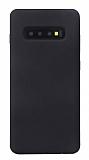 Eiroo Lansman Samsung Galaxy S10 Siyah Silikon Kılıf