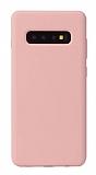 Eiroo Lansman Samsung Galaxy S10 Pembe Silikon Kılıf