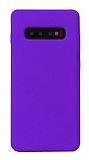 Eiroo Lansman Samsung Galaxy S10 Mor Silikon Kılıf
