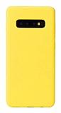 Eiroo Lansman Samsung Galaxy S10 Sarı Silikon Kılıf