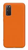 Eiroo Lansman Samsung Galaxy S20 FE Turuncu Silikon Kılıf