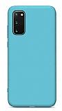 Eiroo Lansman Samsung Galaxy S20 FE Mavi Silikon Kılıf