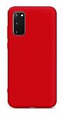 Eiroo Lansman Samsung Galaxy S20 FE Kırmızı Silikon Kılıf