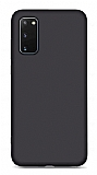 Eiroo Lansman Samsung Galaxy S20 FE Siyah Silikon Kılıf