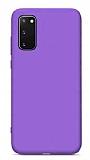 Eiroo Lansman Samsung Galaxy S20 FE Mor Silikon Kılıf