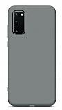 Eiroo Lansman Samsung Galaxy S20 FE Gri Silikon Kılıf