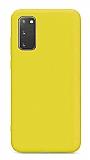 Eiroo Lansman Samsung Galaxy S20 FE Sarı Silikon Kılıf