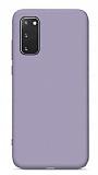 Eiroo Lansman Samsung Galaxy S20 FE Lila Silikon Kılıf