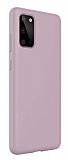 Eiroo Lansman Samsung Galaxy S20 Plus Pembe Silikon Kılıf