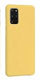 Eiroo Lansman Samsung Galaxy S20 Plus Sarı Silikon Kılıf