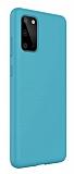 Eiroo Lansman Samsung Galaxy S20 Plus Mavi Silikon Kılıf
