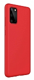 Eiroo Lansman Samsung Galaxy S20 Plus Kırmızı Silikon Kılıf