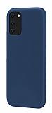 Eiroo Lansman Samsung Galaxy S20 Plus Lacivert Silikon Kılıf