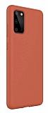 Eiroo Lansman Samsung Galaxy S20 Turuncu Silikon Kılıf