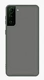 Eiroo Lansman Samsung Galaxy S21 Gri Silikon Kılıf