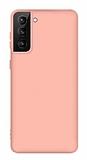 Eiroo Lansman Samsung Galaxy S21 Pembe Silikon Kılıf