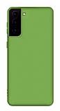 Eiroo Lansman Samsung Galaxy S21 Yeşil Silikon Kılıf