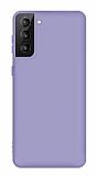 Eiroo Lansman Samsung Galaxy S21 Lila Silikon Kılıf