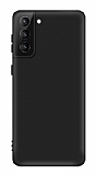 Eiroo Lansman Samsung Galaxy S21 Siyah Silikon Kılıf