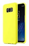 Eiroo Lansman Samsung Galaxy S8 Plus Sarı Silikon Kılıf