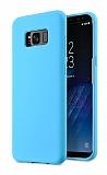 Eiroo Lansman Samsung Galaxy S8 Plus Mavi Silikon Kılıf