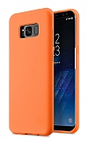 Eiroo Lansman Samsung Galaxy S8 Plus Turuncu Silikon Kılıf
