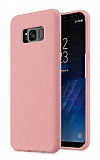 Eiroo Lansman Samsung Galaxy S8 Plus Pembe Silikon Kılıf