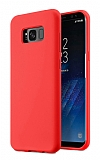 Eiroo Lansman Samsung Galaxy S8 Plus Kırmızı Silikon Kılıf
