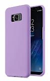 Eiroo Lansman Samsung Galaxy S8 Plus Lila Silikon Kılıf