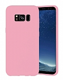 Eiroo Lansman Samsung Galaxy S8 Pembe Silikon Kılıf