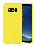 Eiroo Lansman Samsung Galaxy S8 Sarı Silikon Kılıf