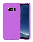 Eiroo Lansman Samsung Galaxy S8 Lila Silikon Kılıf