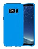 Eiroo Lansman Samsung Galaxy S8 Mavi Silikon Kılıf