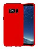 Eiroo Lansman Samsung Galaxy S8 Kırmızı Silikon Kılıf