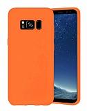 Eiroo Lansman Samsung Galaxy S8 Turuncu Silikon Kılıf
