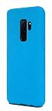 Eiroo Lansman Samsung Galaxy S9 Plus Mavi Silikon Kılıf