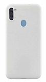 Eiroo Lansman Samsung Galaxy A11 Beyaz Silikon Kılıf