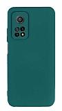 Eiroo Lansman Xiaomi Mi 10T Pro 5G Kamera Korumalı Yeşil Silikon Kılıf